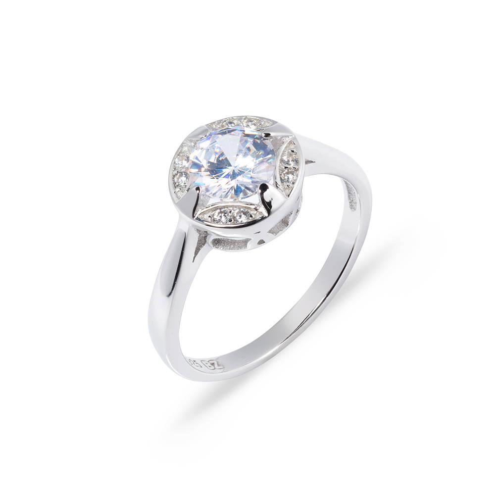 pierścionki se srebra - brylant - hurtownia