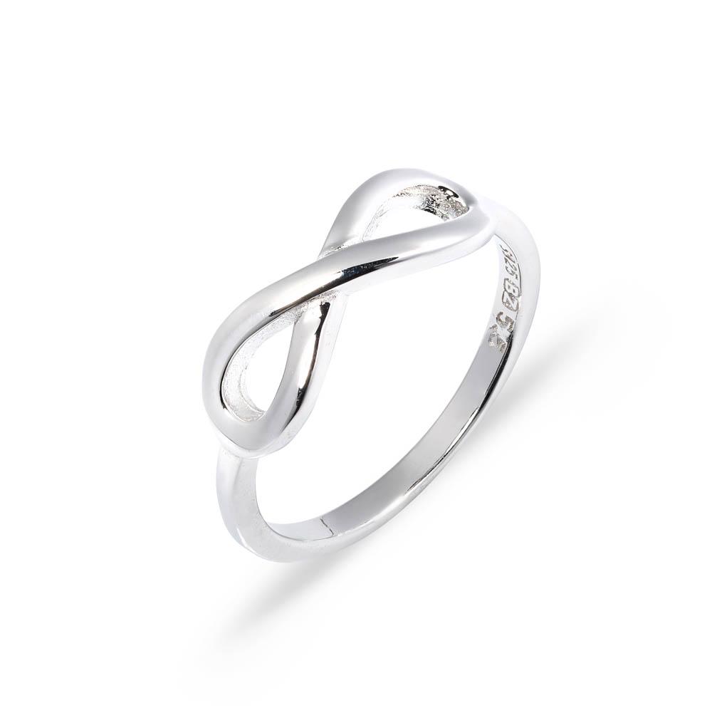pierścionki se srebra -  ósemka