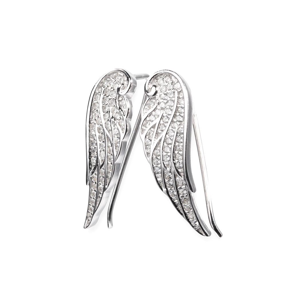kolczyki srebrne - skrzydła - hurt