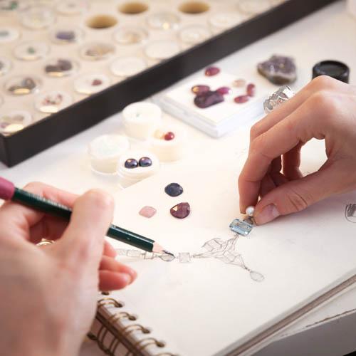 projektowanie bizuterii i produkcja - pierścionki - naszyjniki