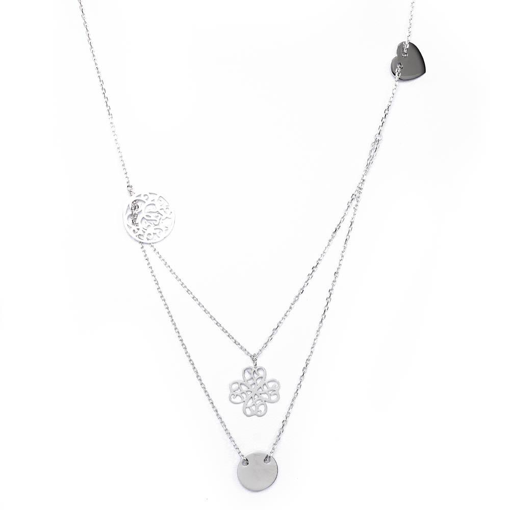 piękne naszyjniki srebrne  - producent