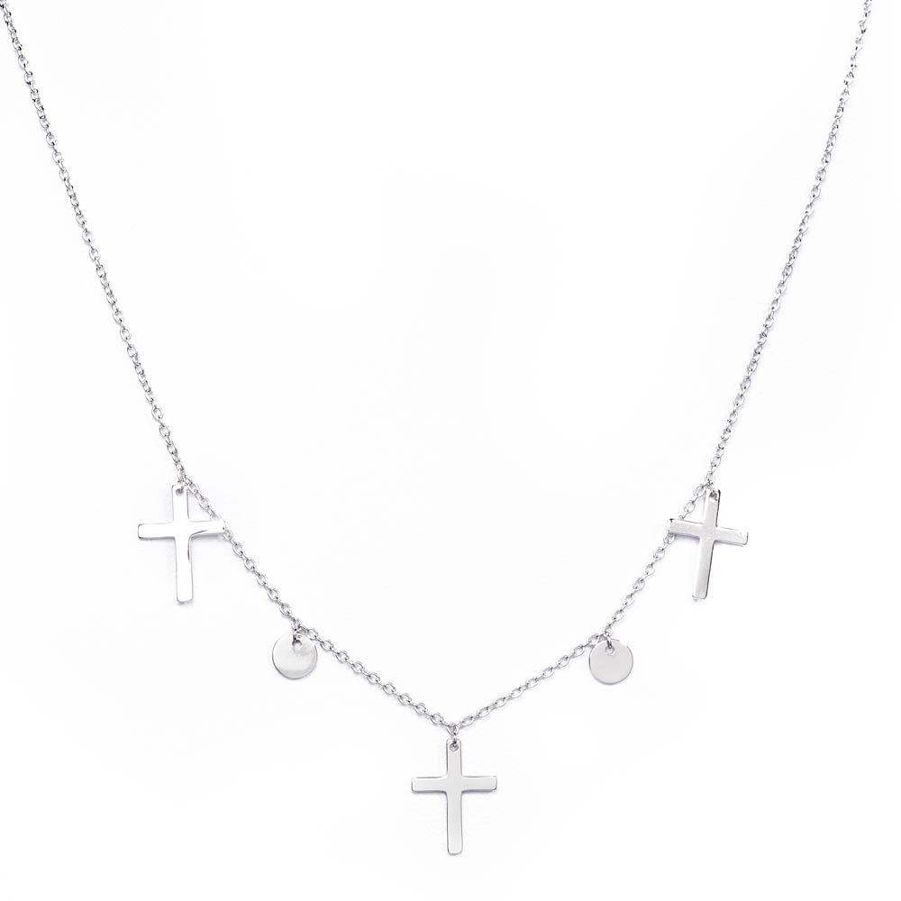 srebrne naszyjniki z krzyżykami  - producent